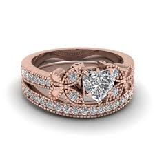 Rose Gold Wedding Rings Sets