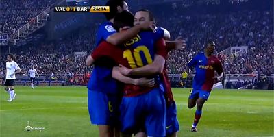 LFP-Week-33 : Valencia 2 vs 2 Barcelona 25-4-2009