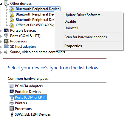 Driver windows 7 dell peripheral download device bluetooth for free