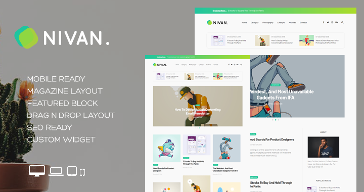 Nivan – A Creative Blogger Theme
