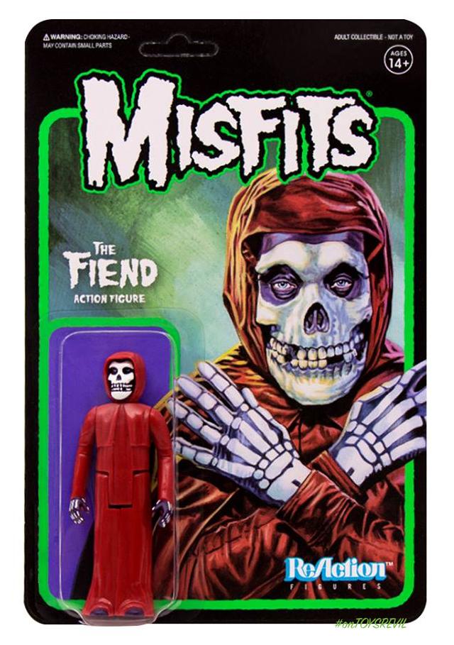 Super 7-Misfits-le démon-Halloween Orange Fiend Reaction Figure