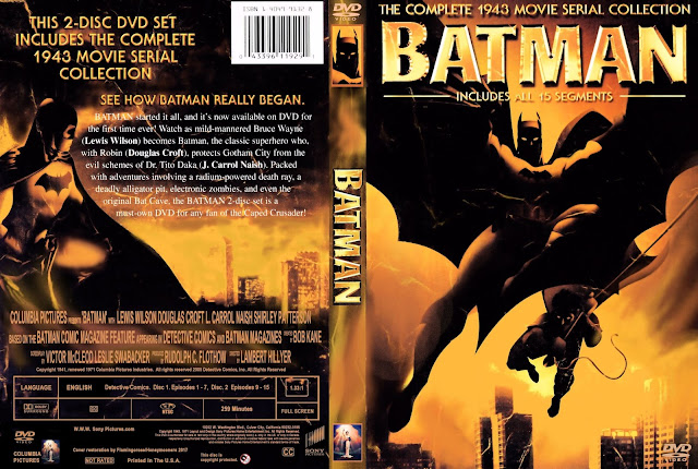 Batman 1943 Movie Serial Collection DVD Cover
