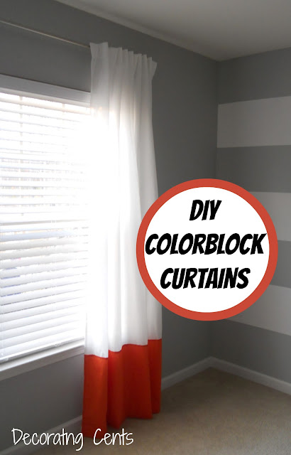 Color-Block Curtains