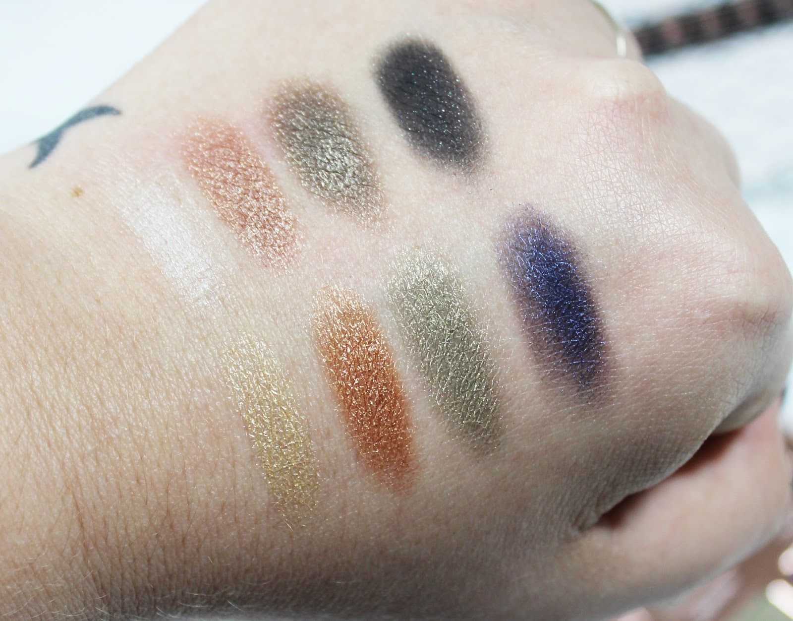 Lorac Pro Metal Rose Gold Swatches