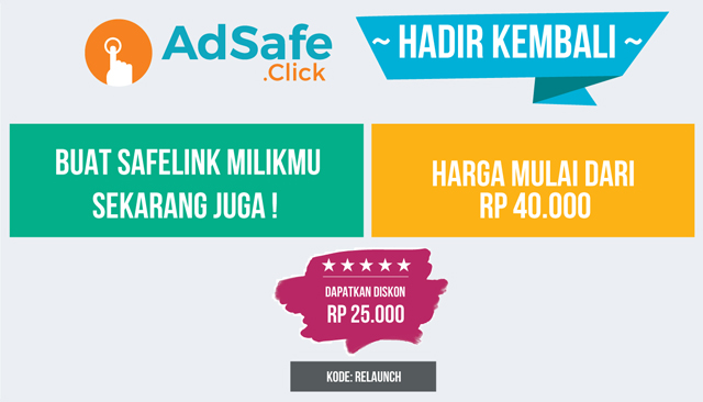 AdSafe Click Kembali Hadir Dan Dapatkan Diskon Hingga Rp 25.000
