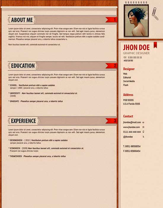 Free Creative Resume Template 07