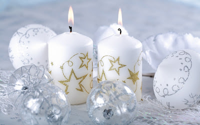 White-christmas-candel-wallpapers