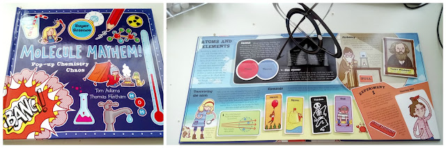 Awesome pop-up book for kids, teaching all about Atoms, Molecules and Elements