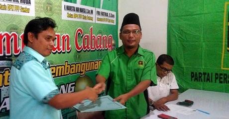 Serius Maju Pada Pilkada Juni 2018, Adib Alfikri Ambil Formulir Pendaftaran di DPC PPP Kota Padang