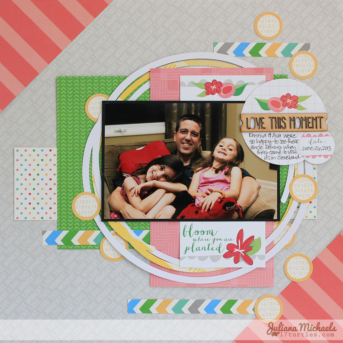 Love This Moment Scrapbook Page by Juliana Michaels #ellesstudio #scrapbookpage
