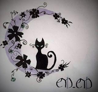 un chat : C