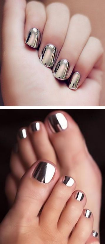 chrome nail art design. love this nail polish