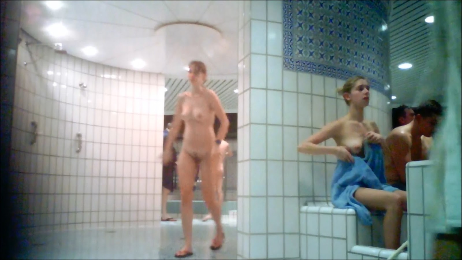 public naked shower