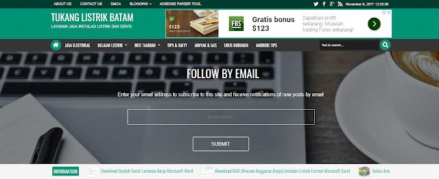 Get Newsletter Widget For Ijonkz Blogger Template