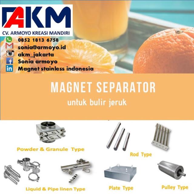 magnet separator bulir jeruk
