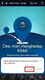 Mencari Arah Kiblat Dengan Smartphone Tanpa Instal Aplikasi 3
