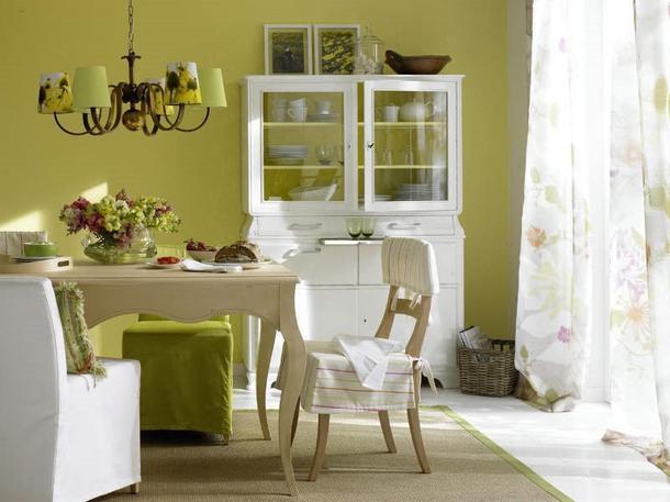 Wandgestaltung Esszimmer Grün | Minimalistische Haus Design