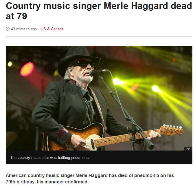 Just Watching The Wheels Go Round Merle Haggard April 6