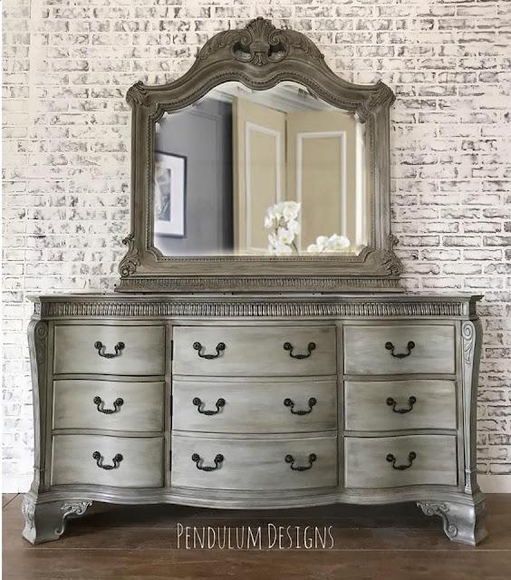 big dresser and vanity