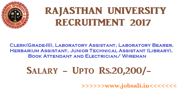 non teaching jobs, govt jobs in rajasthan, university of rajasthan vacancy