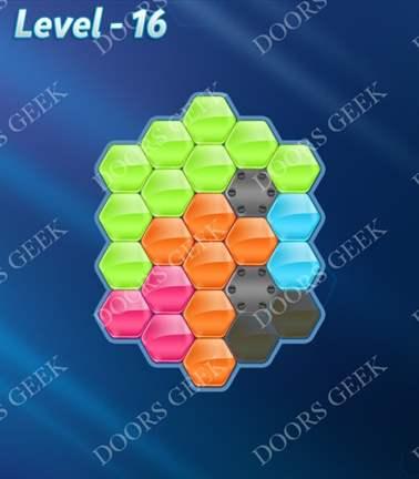 Block! Hexa Puzzle [5 Mania] Level 16 Solution, Cheats, Walkthrough for android, iphone, ipad, ipod