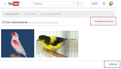 Cara membuat vidio dari foto atau gambar di YOUTUBE