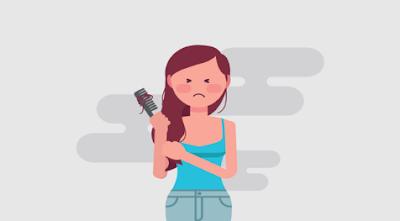 3 Hal yang Membuat Rambut Wanita Rontok dan ketombe