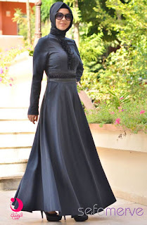 ازياء ملابس وفساتين تركية , فساتين تركية للمحجبات , كولكشن ملابس وفساتين وعبايات تركية وسورية