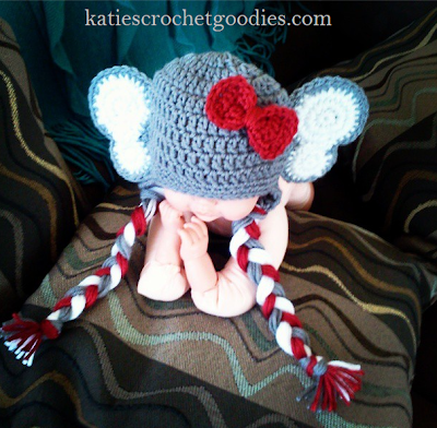crochet elephant hat
