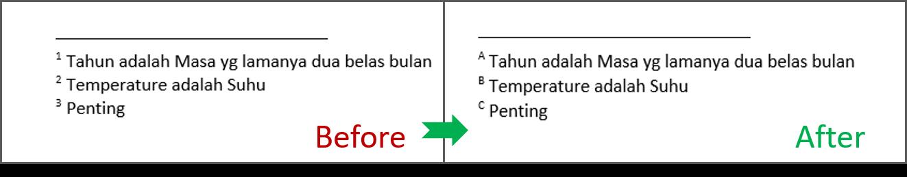 Mengganti Format Nomor Footnotes 4