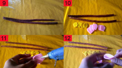 Cara Membuat Bunga Sakura dari Kain Flanel Beserta Gambarnya