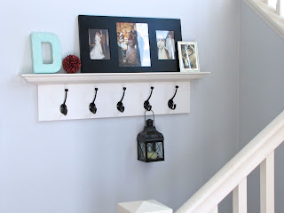 DIY shelf with hooks