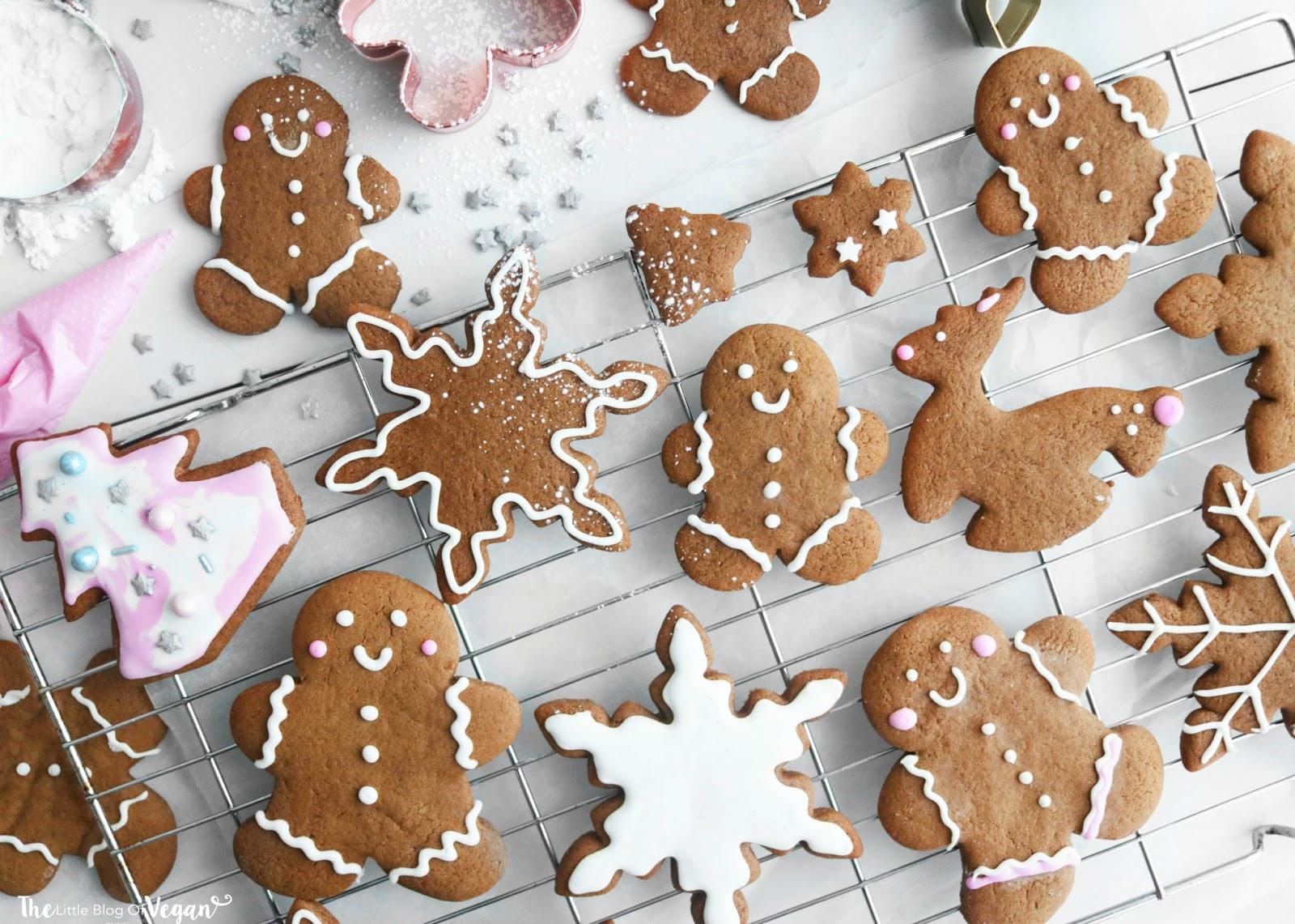 Vegan Christmas Gingerbread Cookies Recipe The Little Blog Of Vegan