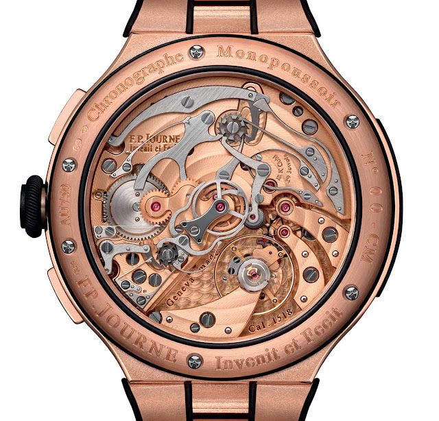 The movement of the F.P.Journe Chronographe Monopoussoir Rattrapante