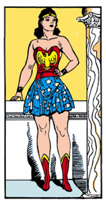 All-Star Comics (1940) #8 Page 67 Panel 8: Diana in her Wonder Woman outfit for the first time.