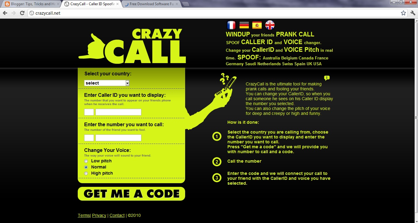 Call your friend with his own number: Call Spoofing | Tips, Tricks