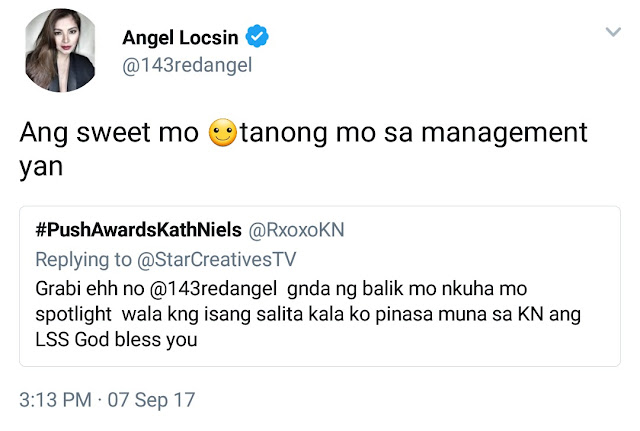 Angel Locsin fires back at the bashers who criticized her for returning to La Luna Sanggre.
