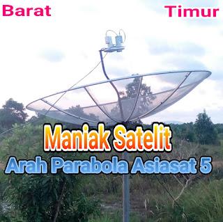 ARAH PARABOLA SATELIT ASIASAT 5