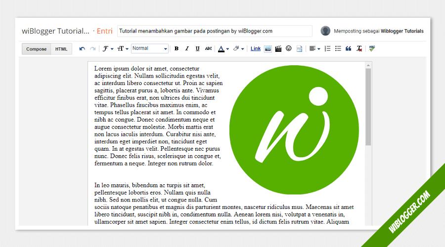 cara mengatur posisi gambar sejajar dan menyatu dengan text