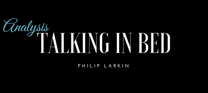 Analysis of Philip Larkin's Talking in Bed