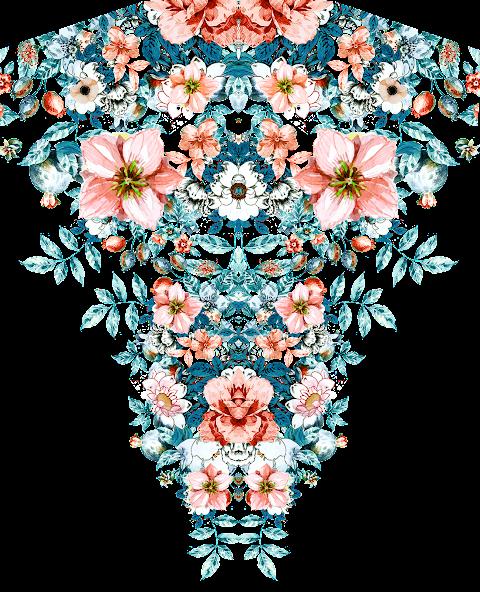 Textile Design Flower PNG 2355