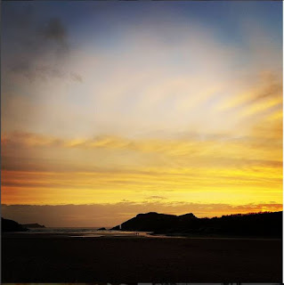Porth Beach Newquay Sunset