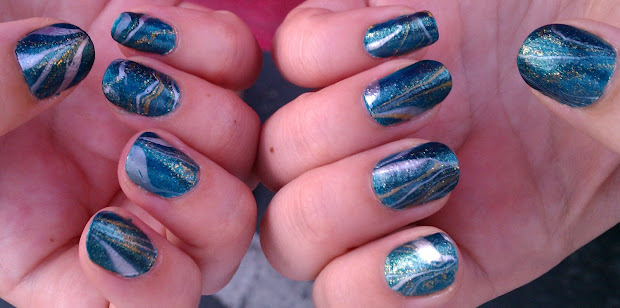 4 blue green gold and glitter
