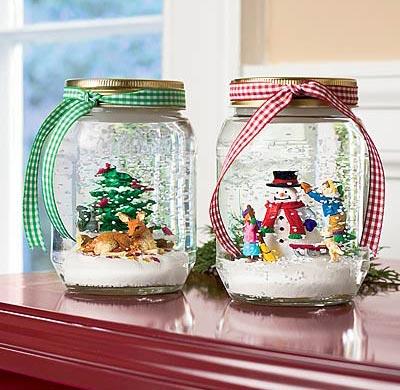 Anyone Can Decorate Diy Holiday Craft Mason Jar Snowglobes