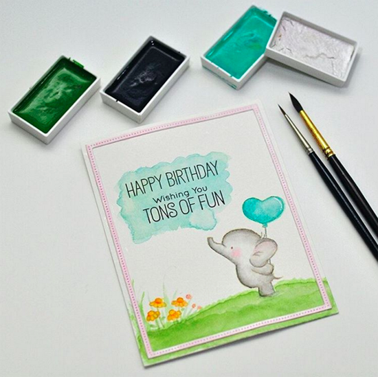 Birdie Brown Adorable Elephants stamp set - Vera Rhuhay #mftstamps