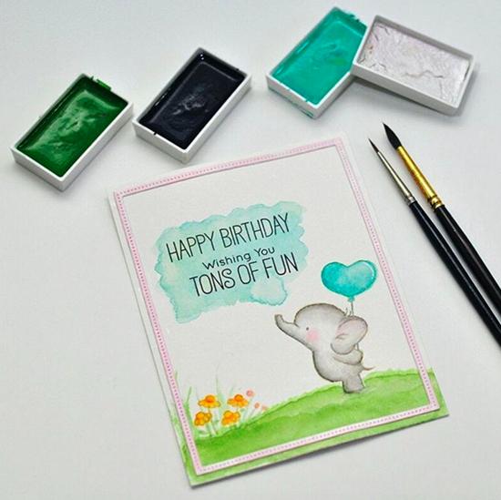 Birdie Brown Adorable Elephants stamp set - Vera Rhuhay #mftstamps