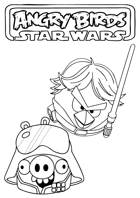angry birds star wars coloring pages to print | Angry Birds Star Wars Coloring Pages - Free Printable ...