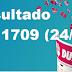 Resultado Dupla Sena -Concurso 1709 (24/10/17)