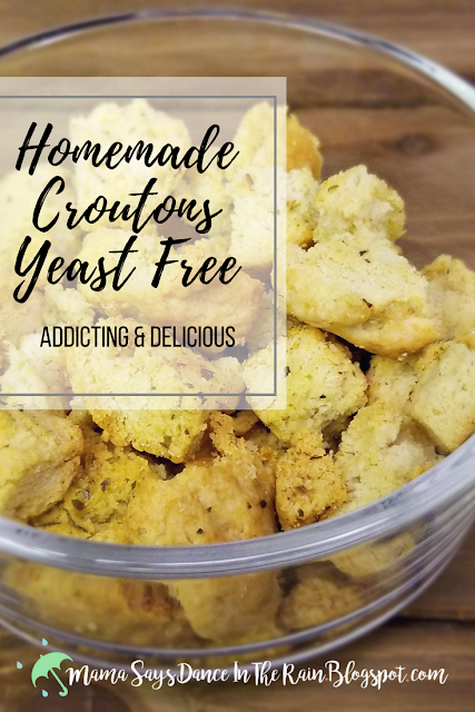 Homemade Croutons Yeast Free Delicious & Addicting! You'll never go back to store brought when you see how easy it is to make them yourself!