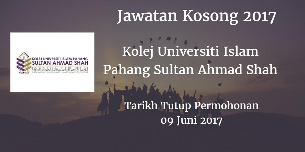 Jawatan Kosong KUIPSAS 09 Juni 2017